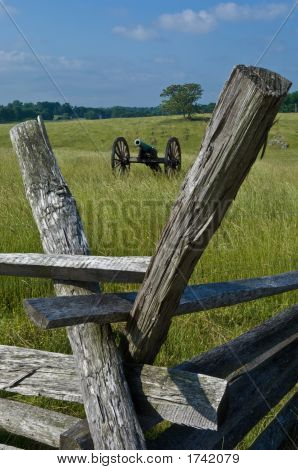 Cannon And Battlefield Fence