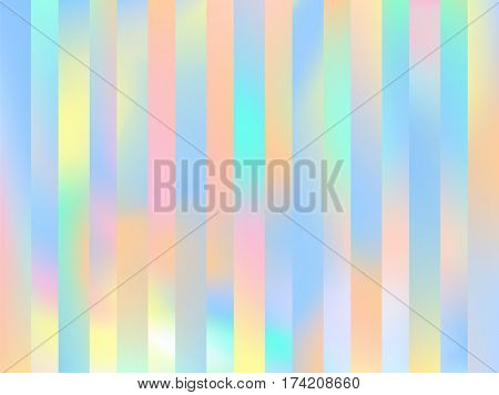 Holographic lines background. Trendy fashion wallpaper. Pastel smooth texture. Holography backdrop. Modern vector illustration for web design or printed products.