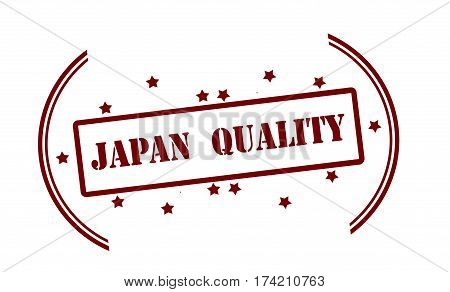Stamp with text Japan quality inside vector illustration