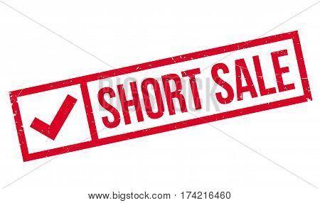 Short Sale rubber stamp. Grunge design with dust scratches. Effects can be easily removed for a clean, crisp look. Color is easily changed.