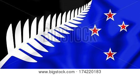 Nz_flag_design_silver_fern_(black,_white_&_blue)_by_kyle_lockwood