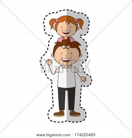 happy family members icon vector illustration design