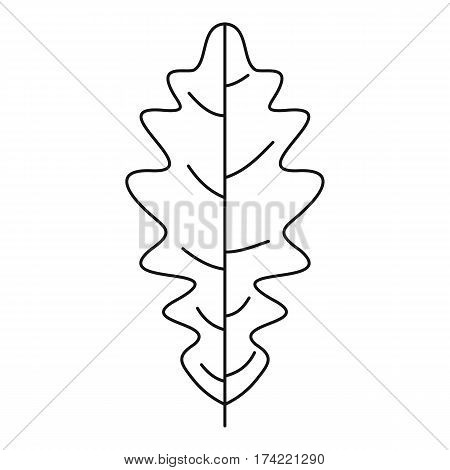 Oak leaf icon. Outline illustration of oak leaf vector icon for web