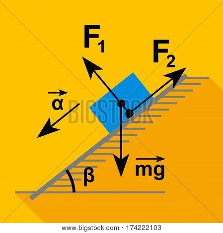 Physics scheme icon. Flat illustration of physics scheme vector icon for web