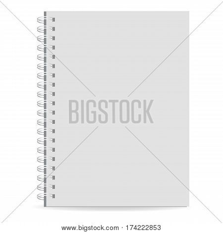 Exercise book icon. Realistic illustration of exercise book vector icon for web