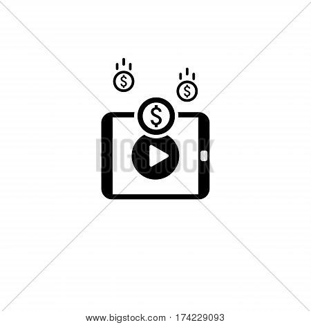 Traffic Monetization Icon. Business Concept. Flat Design. Isolated Illustration.