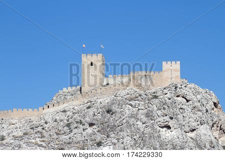 the castle of Sax is a fortress of century XV on the province of Alicante spain