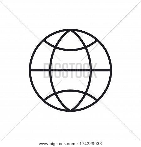 Globus icon on white background. Flat vector EPS 10