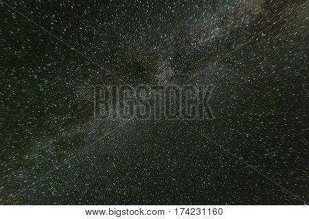 Milky Way in the night star sky. Kamchatka Peninsula.