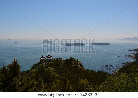 Dalian China's south coast in its May splendour.