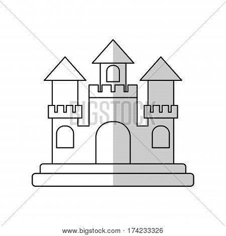sandcastle icon over white backgronund. vector illustration