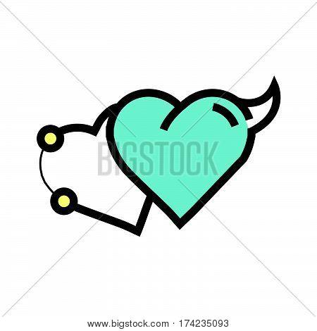 Love Heart Devil Pen Tool Style Blue