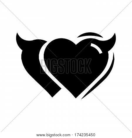 Twins Heart of Devil love black color