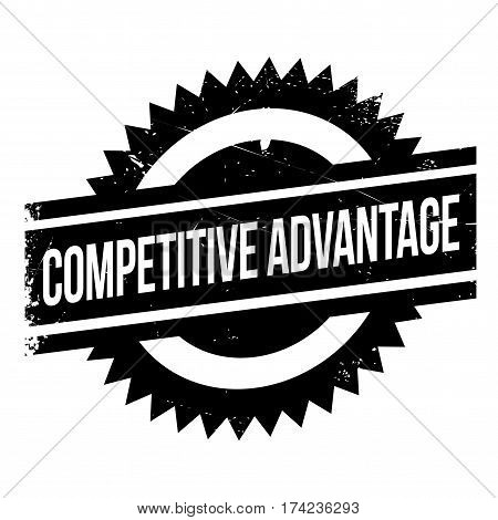 Competitive Advantage rubber stamp. Grunge design with dust scratches. Effects can be easily removed for a clean, crisp look. Color is easily changed.