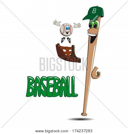 baseball bat in cap and gloves standing throws .a ball in the upper
