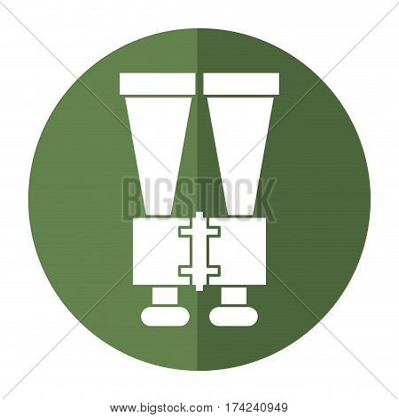 binoculars look observe shadow vector illustration eps 10