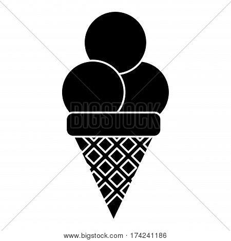 ice cream sweet sundae pictogram vector illustration eps 10