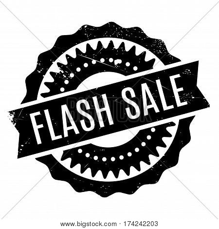 Flash Sale rubber stamp. Grunge design with dust scratches. Effects can be easily removed for a clean, crisp look. Color is easily changed.