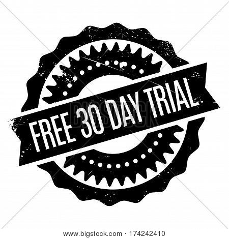 Free 30 Day Trial rubber stamp. Grunge design with dust scratches. Effects can be easily removed for a clean, crisp look. Color is easily changed.