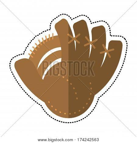cartoon baseball glove sport icon vector illustration eps 10