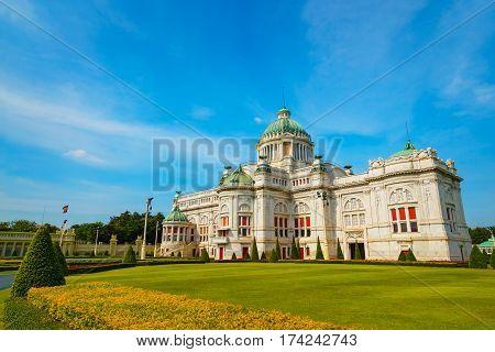 The Ananta Samakhom Throne Hall in Thai Royal Dusit Palace Bangkok Thailand