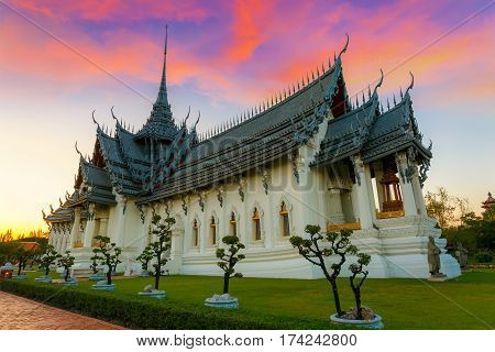 Bangkok, Thailand - December 30 2015: Sanphet Prasat Palace, One Of The Most Beautiful Ancient Thai
