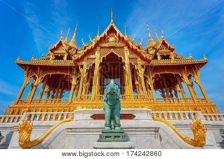 Barom Mangalanusarani Pavilion In The Area Of Ananta Samakhom Throne Hall In Royal Dusit Palace In B