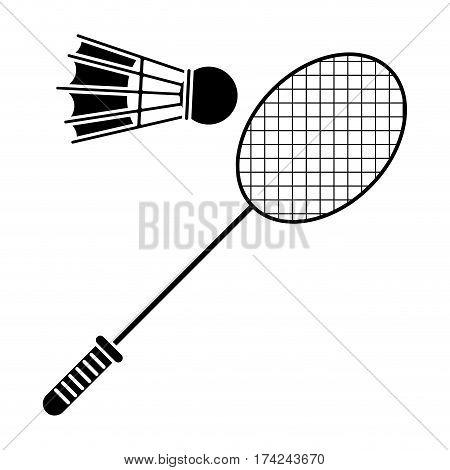 badminton racket shuttlecock sport pictogram vector illustration eps 10