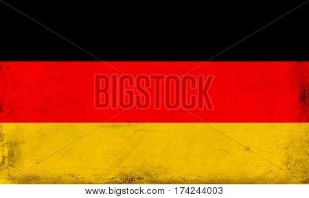 Vintage national flag of germany background textured