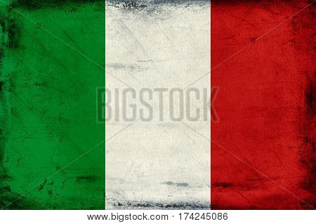 Vintage national flag of Italy background textured
