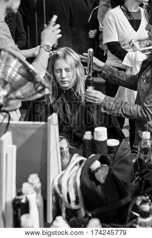 Alexander Wang - Backstage - Fall 2017 Collection