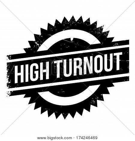 High Turnout rubber stamp. Grunge design with dust scratches. Effects can be easily removed for a clean, crisp look. Color is easily changed.