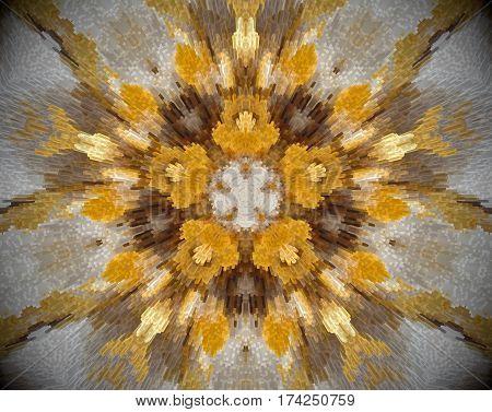 5 Sided Star Abstract Extrude Mandala