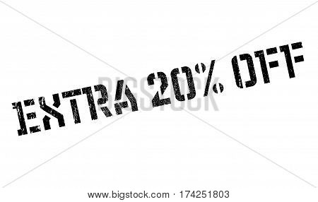 Extra 20 Off rubber stamp. Grunge design with dust scratches. Effects can be easily removed for a clean, crisp look. Color is easily changed.