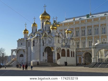 Cathedral of the Annunciation in the Moscow Kremlin built in 1484 - 1489 years