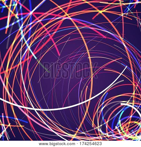 Abstract background with bright rainbow colorful lines