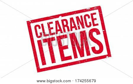 Clearance Items rubber stamp. Grunge design with dust scratches. Effects can be easily removed for a clean, crisp look. Color is easily changed.