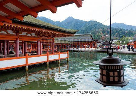 Japanese Itsukushima shrine