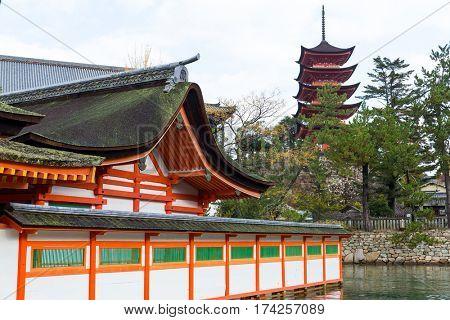 Traditional Japanese Itsukushima shrine