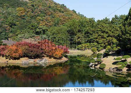 Kokoen Garden in autumn
