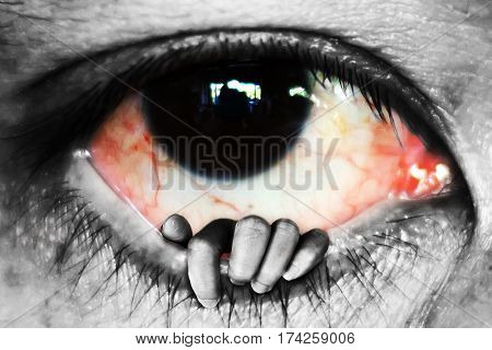 Hand Open Eye, Deceive Concept