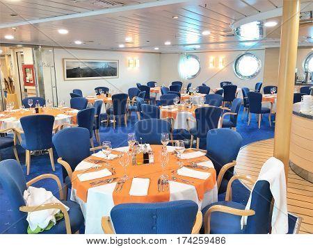La Pinta Yacht Dining Room