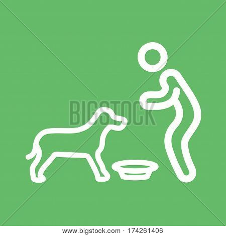 Pet, feeding, dog icon vector image. Can also be used for city lifestyle. Suitable for use on web apps, mobile apps and print media.