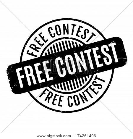 Free Contest rubber stamp. Grunge design with dust scratches. Effects can be easily removed for a clean, crisp look. Color is easily changed.