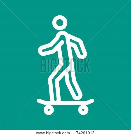 Skateboard, skating, skate icon vector image. Can also be used for city lifestyle. Suitable for use on web apps, mobile apps and print media.