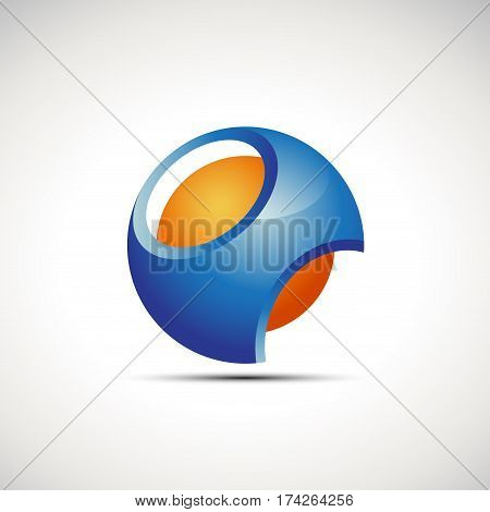 Vector sign abstract punctured sphere geometric shape