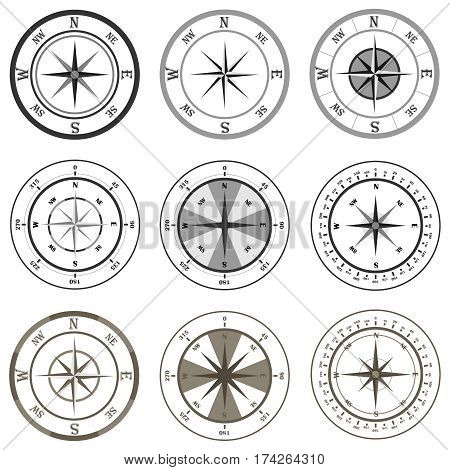 Compass, Compass icon. Flat design, vector illustration, vector.