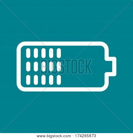 Battery, half, sign icon vector image. Can also be used for web interface. Suitable for use on web apps, mobile apps and print media.