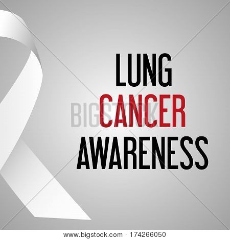 World Lung Cancer Day Awareness Poster Eps10