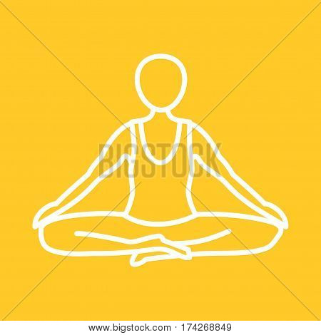 Pose, yoga, perfect icon vector image. Can also be used for yoga poses. Suitable for mobile apps, web apps and print media.